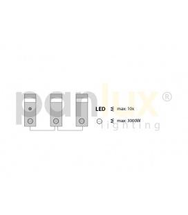 AIGLOS PLAST zářivkové nábytkové svítidlo s vypínačem pod kuchyňskou linku | 8W, plast, bílá