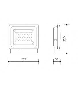 LEDLINE dekorativní LED svítidlo | délka 55cm - studená bílá