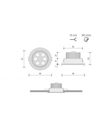 LEDMED LED VANA 10W s držákem - neutrální | 10W