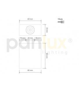 ALU PROFIL 10mm přisazený | délka 2m