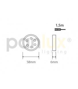 PLAFONIERA 260 S LED přisazené stropní a nástěnné svítidlo | se senzorem, LED - neutrální