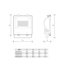 ORION NEON schodišťové svítidlo 230V | dřevo