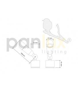 JUPITER 325 S LED přisazené stropní a nástěnné kruhové svítidlo | 18W LED,se senzorem - studená bílá