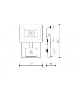 GALIA MAT přisazené stropní a nástěnné kruhové svítidlo | 75W E27, černá, mat