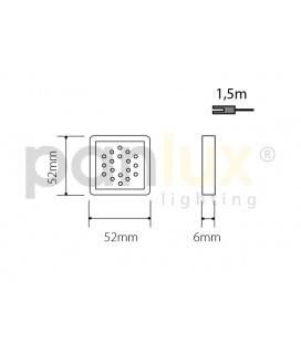 OLGA S přisazené stropní a nástěnné kruhové svítidlo se senzorem 60W | stříbrná