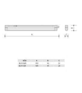LED PÁSEK CW 24V 6W 8mm IP20 - 3015 LED | IP20 - studená bílá