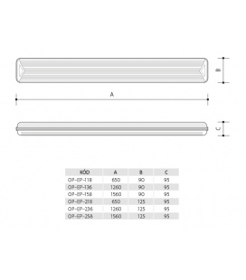 DAERON nábytkové svítidlo | 2x24LED - teplá bílá