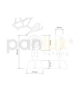 CRYSTALL bytové LED svítidlo | studená bílá