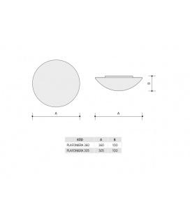 OLGA S přisazené stropní a nástěnné kruhové svítidlo se senzorem 60W | bílá