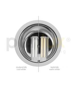 DOWNLIGHT DWH EVG 2x26W zářivkové podhledové svítidlo | 2x26W, stříbrná