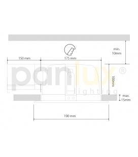 PLAFONIERA 305 S LED přisazené stropní a nástěnné svítidlo | se senzorem, LED  - studená bílá