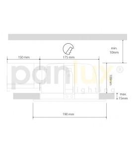 PARK 2 zahradní svítidlo | černá - mléčná (60cm)