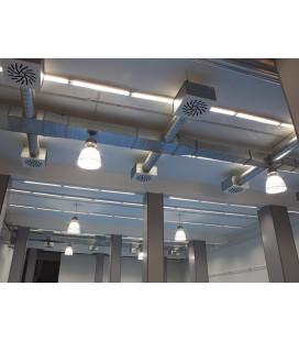 DAISY multifunkční stolní lampička s displejem | bílo-zelená