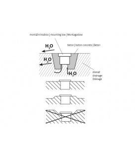 GALIA přisazené stropní a nástěnné kruhové svítidlo | 75W E27, zlatá, transp.