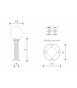 GALIA MAT přisazené stropní a nástěnné kruhové svítidlo | 75W E27, bílá, mat
