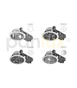 DOWNLIGHT DWH VVG 2x18W zářivkové podhledové svítidlo | 2x18W, stříbrná