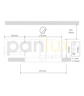 INVERTÉR LED nouzový modul EM1h 4W pro svítidla LED PANEL