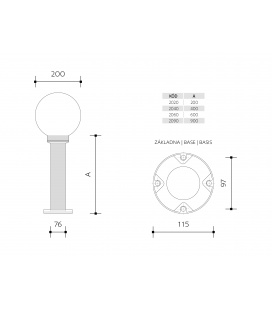 GENTLEMAN MAT přisazené stropní a nástěnné svítidlo | 100W, mat