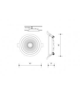 SMD 60LED světelný zdroj 12V 3,5W GU5,3 - teplá bílá