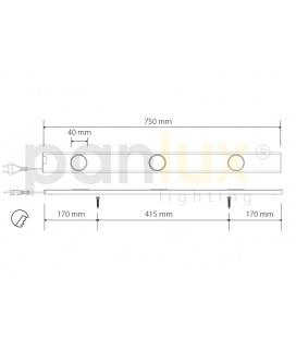 DORIS 50LED stolní lampička | 50LED, černá - teplá bílá