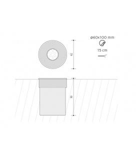 DAERON nábytkové svítidlo | 2x20W, bílá