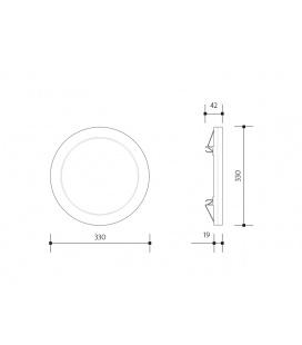 URAN surface round shaped luminaire 75W