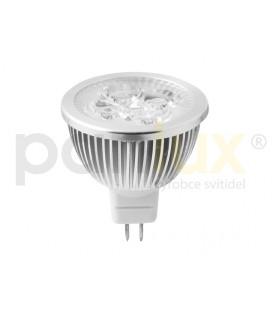 HIGH POWER 4LED světelný zdroj  12V 4W GU5,3 - teplá bílá