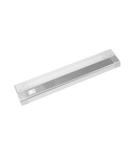 AIGLOS zářivkové nábytkové svítidlo s vypínačem pod kuchyňskou linku  8W, aluminium, stříbrná