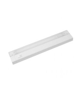 AIGLOS zářivkové nábytkové svítidlo s vypínačem pod kuchyňskou linku  13W, aluminium, bílá