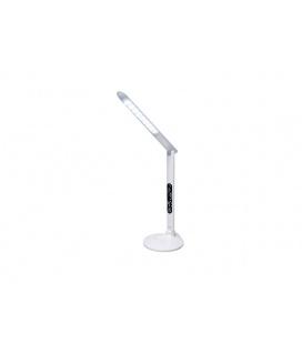 TESSA designová multifunkční stolní  LED lampa s displejem  bílá
