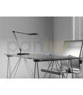 LARA DUO designová stolní COB LED lampa  stříbrná - studená bílá
