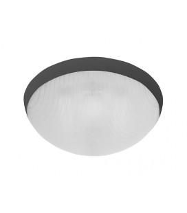GALIA přisazené stropní a nástěnné kruhové svítidlo  75W E27, černá, transp.