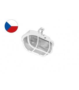 OVAL PLAST přisazené nástěnné svítidlo 60W  bílá, transp.