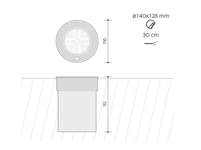 ROAD venkovní pojezdové svítidlo 24LED 12V studená bílá - PANLUX ... 4f32cf162ba