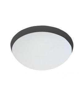 GALIA MAT přisazené stropní a nástěnné kruhové svítidlo  75W E27, černá, mat