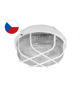 KRUH přisazené stropní a nástěnné kruhové svítidlo 100W  bílá, transp.