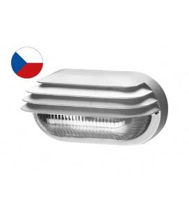 OVAL GRILL přisazené nástěnné svítidlo 40W,  bílá, transp.