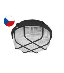 KRUH přisazené stropní a nástěnné kruhové svítidlo 100W  černá, transp.