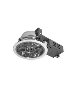 DOWNLIGHT DWM0 EVG 2x18W zářivkové podhledové svítidlo, stříbrná