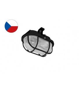 OVAL PLAST přisazené nástěnné svítidlo 60W  černá, transp.