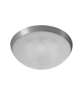 GALIA přisazené stropní a nástěnné kruhové svítidlo  75W E27, stříbrná, transp.