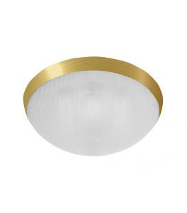 GALIA přisazené stropní a nástěnné kruhové svítidlo  75W E27, zlatá, transp.