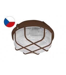KRUH přisazené stropní a nástěnné kruhové svítidlo 100W  hnědá, transp.