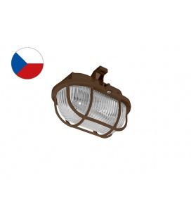 OVAL PLAST přisazené nástěnné svítidlo 60W  hnědá, transp.
