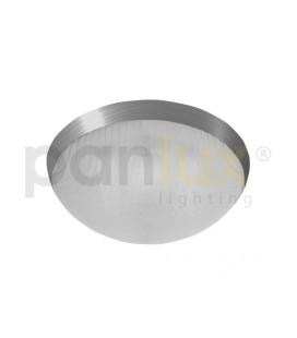 GALIA přisazené stropní a nástěnné kruhové svítidlo 2x9W G23, lesklá stříbrná