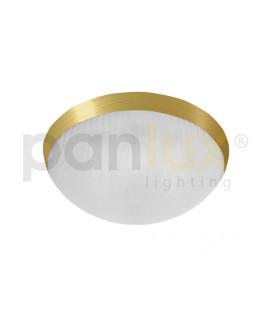 GALIA přisazené stropní a nástěnné kruhové svítidlo 2x9W G23, lesklá zlatá