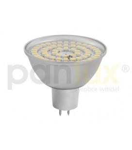 SMD 48LED světelný zdroj 12V 3,5W GU5,3 hliník - studená bílá DOPRODEJ