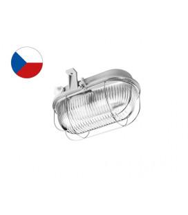 OVAL KOV přisazené nástěnné svítidlo  100W, šedá, transp.