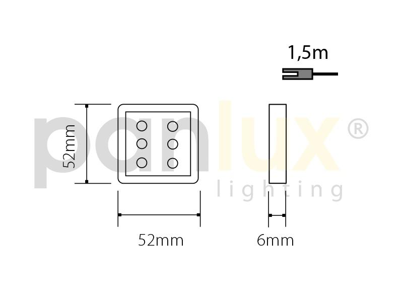 DEKORA 4 dekorativní LED svítidlo  nerez - modrá