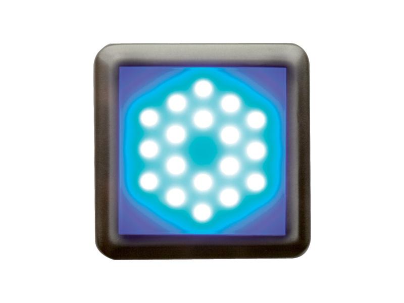 DEKORA 2 dekorativní LED svítidlo  nerez - modrá